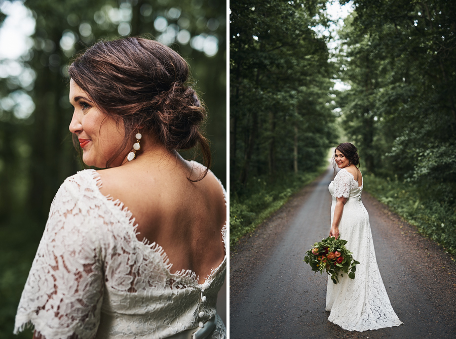 bröllopsfotograf göteborg bröllop nääs brud porträtt skog