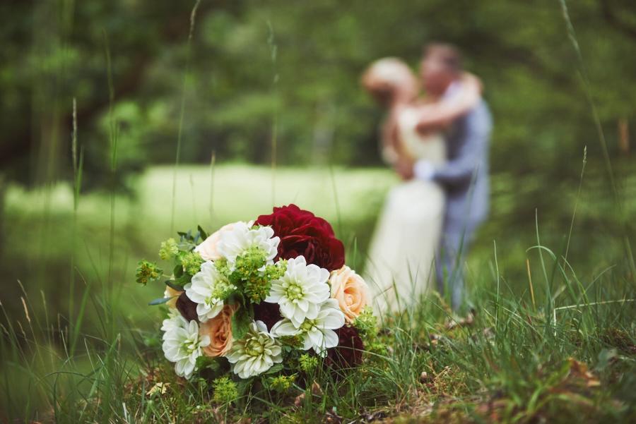 inspiration bröllopsbukett äng