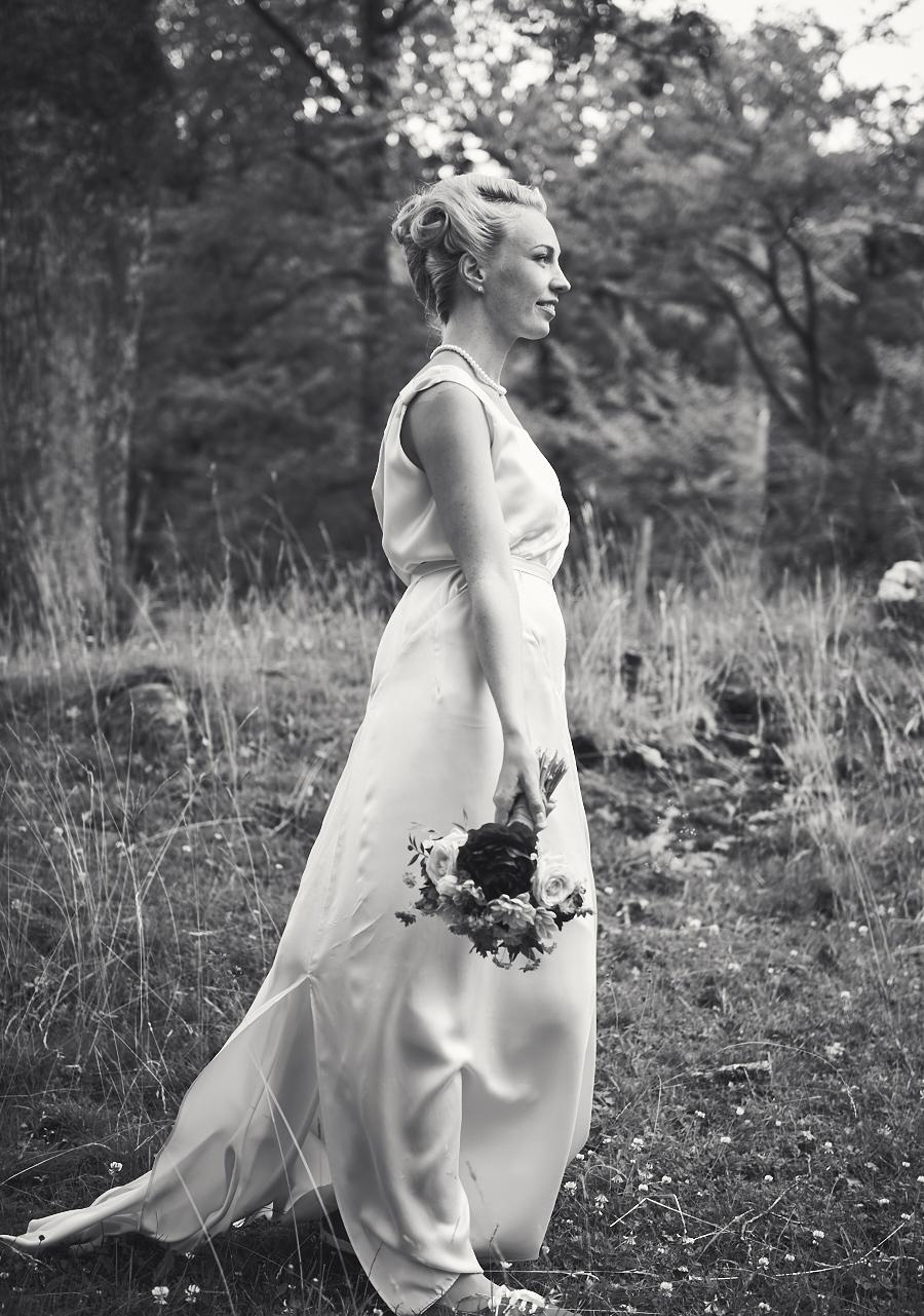 bröllopsfotografering jonsered brud äng