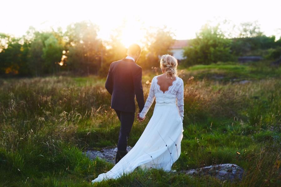 bröllopsfotograf boho bohemiskt göteborg solnegång