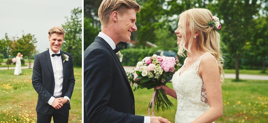 bröllopsfotograf bröllop halmstad first look